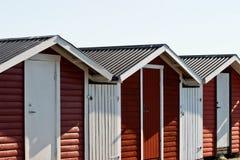 Maison rouge de terrasse photographie stock