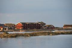 Maison rouge norvégienne Images libres de droits