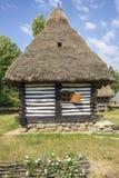 Maison roumaine traditionnelle en bois Photo libre de droits