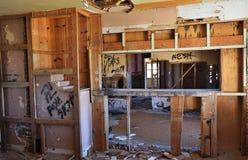 Maison ruinée dans le désert Photo libre de droits