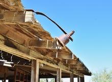 Maison ruinée dans le désert Image stock