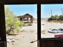 Maison ruinée dans le désert Photos libres de droits