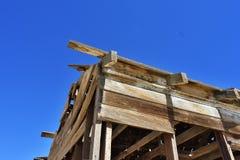 Maison ruinée dans le désert Photos stock