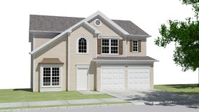 Maison rurale Image stock