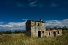 Maison rurale abandonnée Images libres de droits