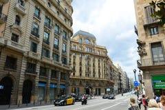 Maison Salas-Bulbena, vieille ville de Barcelone, Espagne Image stock