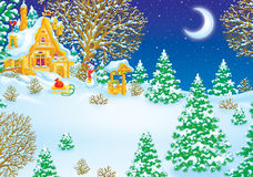 maison Santa de clause Photos libres de droits
