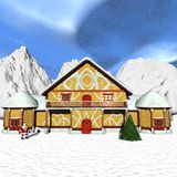 maison Santa Toon Images stock