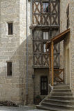 Maison Sergentale in Chateldon medieval village Stock Image
