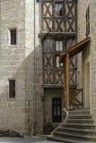 Maison Sergentale in mittelalterlichem Dorf Chateldon Stockbild
