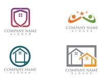 Maison simple Real Estate Logo Icons de Chambre illustration de vecteur