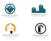 Maison simple Real Estate Logo Icons de Chambre illustration libre de droits