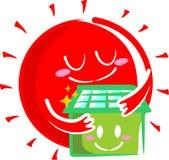 Maison solaire Photos libres de droits