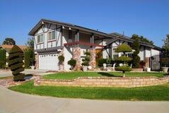 Maison suburbaine Photo libre de droits