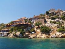 Maison sur la côte Photo libre de droits