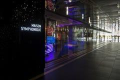 Maison Symphonique info Royalty Free Stock Photos