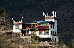 Maison tibétaine image libre de droits