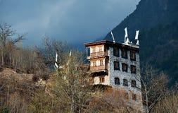 Maison tibétaine photographie stock