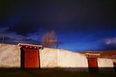 Maison tibétaine images libres de droits