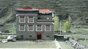 Maison tibétaine de style dans Xinduqiao, Sichuan image libre de droits