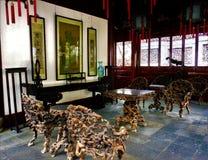 Maison traditionnelle chinoise, détails artistiques et conception image stock
