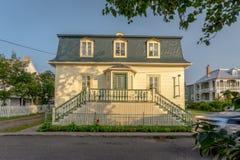 Maison traditionnelle dans Kamouraska, Québec, Canada photographie stock libre de droits