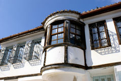 Maison traditionnelle dans la ville de Xanthi Image libre de droits