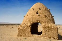 Maison traditionnelle de ruche, désert syrien Image libre de droits