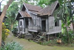Maison traditionnelle de Sumatra dans Bali photo stock