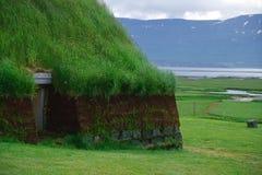 Maison traditionnelle de tourbe, Islande Image libre de droits