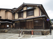 Maison traditionnelle en bois dans vieux Gion Photographie stock