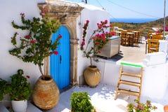 Maison traditionnelle grecque chez Kithira Images libres de droits
