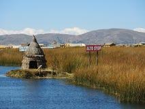Maison traditionnelle, Puno, Pérou image stock
