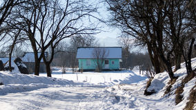 Maison traditionnelle roumaine de comté de Maramures Photographie stock libre de droits