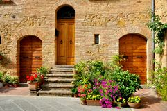 Maison traditionnelle toscane en Italie Image stock