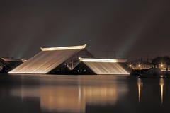 Maison triangulaire Photo libre de droits