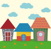 Maison trois mignonne illustration de vecteur