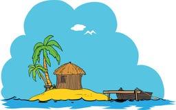 Maison tropicale d'île Image libre de droits