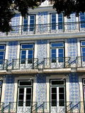 Maison type avec des azulejos Photo libre de droits