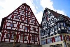 Maison typique dans le tauber de der d'ob de rothenburg image libre de droits