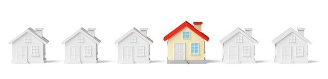Maison unique colorée drôle dans la rangée des maisons Photos stock