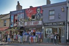 Maison urbaine anglaise typique à Brighton 1er mars 2017 à Brighton, la Grande-Bretagne Images stock