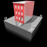 Maison urbaine avec l'isolation supplémentaire de mur illustration stock