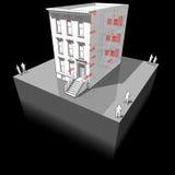 Maison urbaine avec le diagramme intérieur d'appareils illustration stock