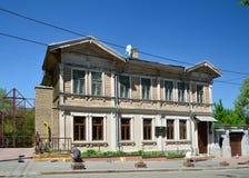 Maison urbaine d'autrefois reconstituée Images stock
