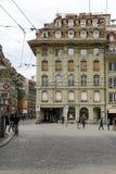 Maison urbaine dans la vieille ville de Berne Image stock