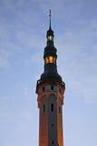 Maison urbaine dans la ville de Tallinn l'Estonie Photographie stock libre de droits