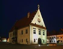 Maison urbaine sur la place d'hôtel de ville (mestie de ¡ de nà de né de  de RadniÄ) dans Bardejov Photos stock