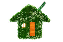 Maison verte Photo libre de droits