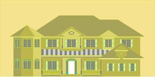 Maison verte illustration stock